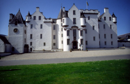 blair castle photographed at street level Pictures part of a collection of scottish photographs