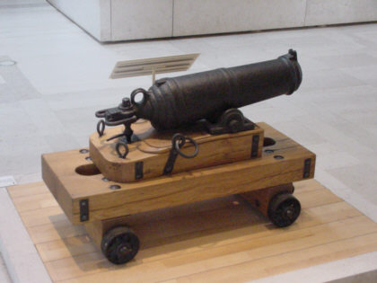 carronade cannon gun picture photograph of scottish army pictures