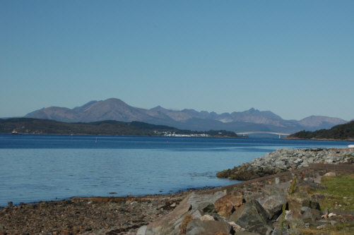 skye bridge cuillins mountain range pictures and photographs images of Scottish and scotland